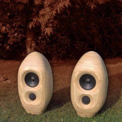 Diffusore acustico speaker cassa acustica in legno bioforme falegnameria artistica - Casse acustiche design ...