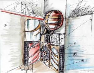 progetto di arredamento d'interni | la falegnameria artistica - Arredamento Interni Progetti