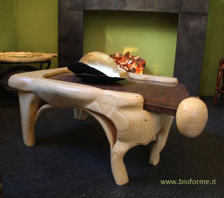 Tavolini da salotto in legno sfera di bioforme da toccare for Tavolini legno salotto