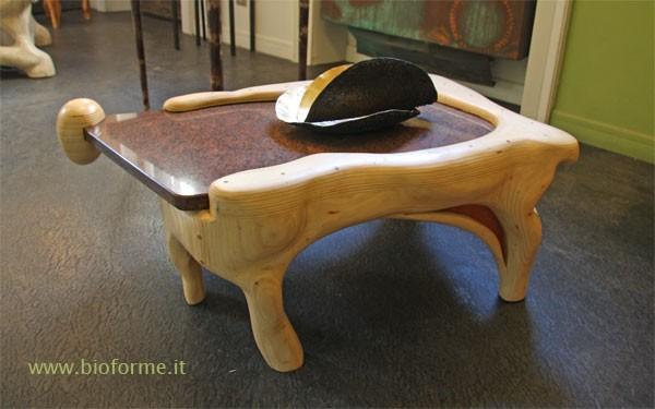 Tavolini da salotto in legno sfera di bioforme da toccare for Tavolini trasparenti da salotto