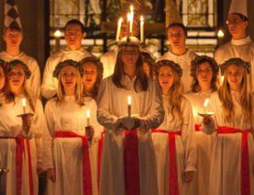 Il coro di Santa Lucia in svedese!
