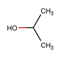 alcool isopropanolo formula